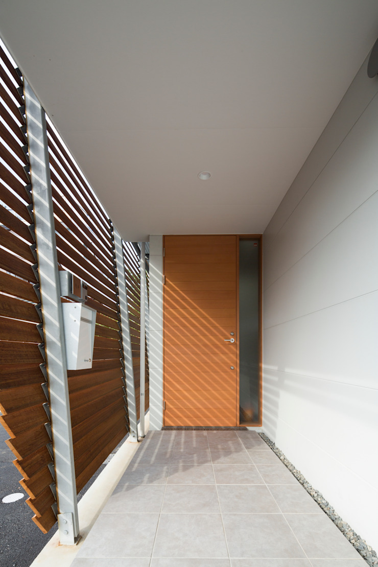 Studio R1 Architects Office Eclectic style corridor, hallway & stairs Slate White