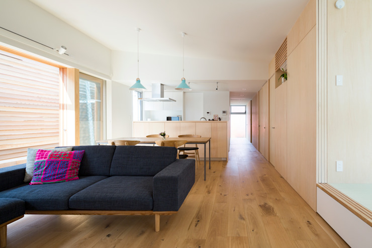 Studio R1 Architects Office Eclectic style living room Wood Wood effect