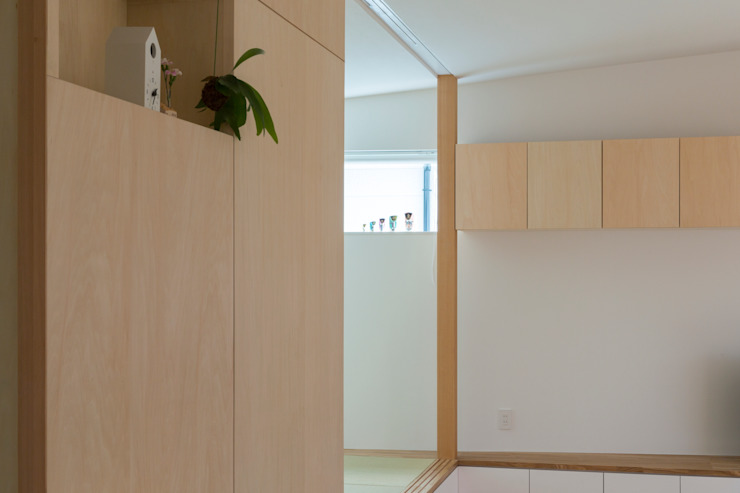 Studio R1 Architects Office Eclectic style corridor, hallway & stairs Wood Wood effect