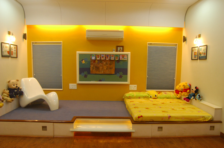 Kids room Image N Shape Nursery/kid's roomBeds & cribs Wood Yellow