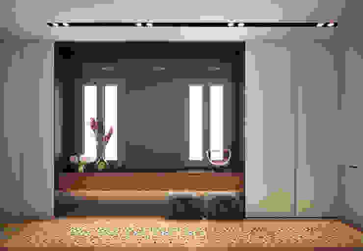 LUV Studio Eclectic style corridor, hallway & stairs