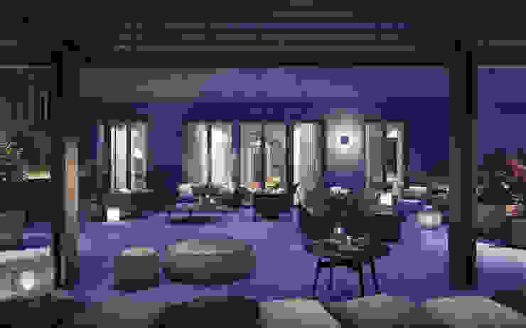 LUV Studio Eclectic style balcony, veranda & terrace
