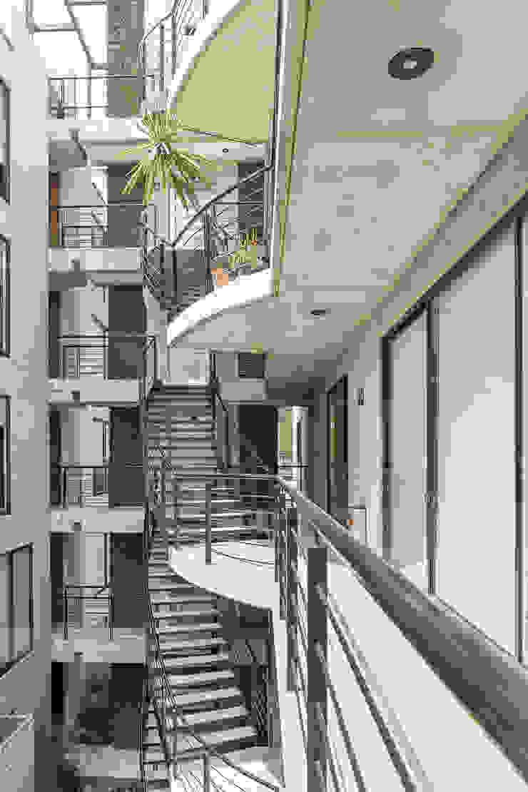 Sinaloa 20 Pasillos, vestíbulos y escaleras modernos de PHia Moderno