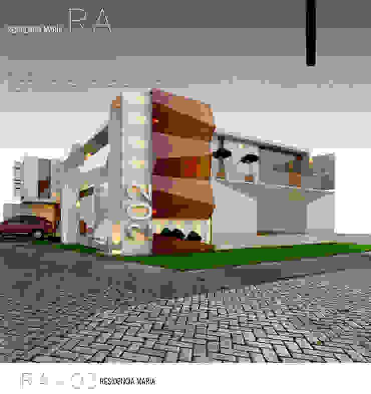 RESIDENCIA MARÍA-RA Casas eclécticas de Sergio Villafuerte -ARQUITECTOS- Ecléctico