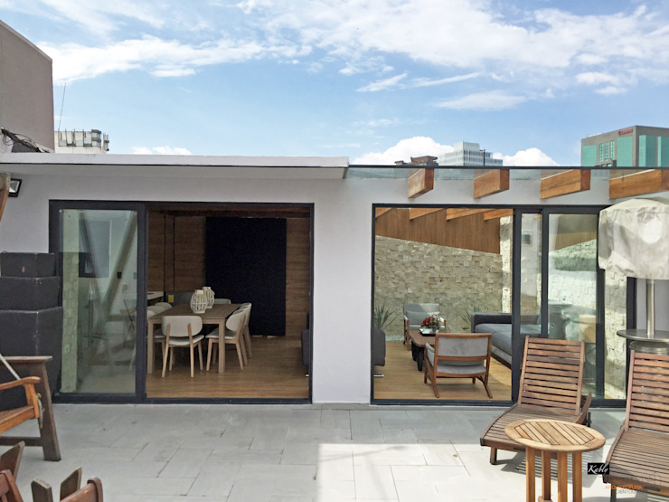 Arquitectura101 + Kably Arquitectos Modern terrace