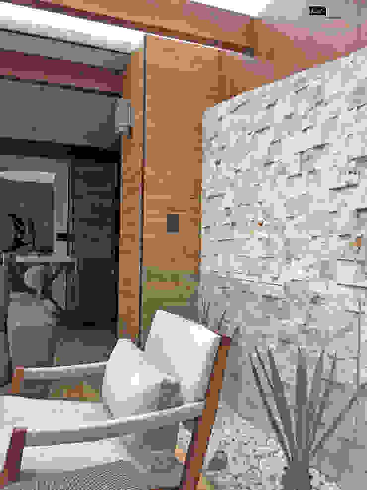 Terraza Horacio Balcones y terrazas modernos de Arquitectura101 + Kably Arquitectos Moderno