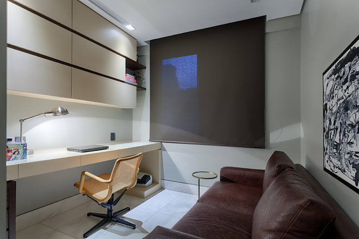 Oficinas de estilo moderno de Emmanuelle Eduardo Arquitetura e Interiores Moderno