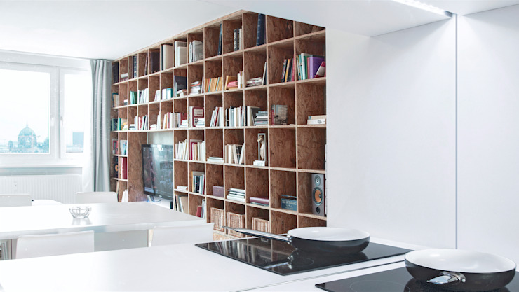 Salones minimalistas de Alexander John Huston Minimalista