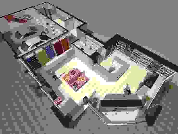 VISTA SUPERIOR Galerías y espacios comerciales de estilo moderno de Eugenio Tschaggeny Arquitectura - Decoración - Ambientaciones. Moderno