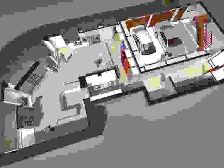VISTA SUPERIOR 2 Galerías y espacios comerciales de estilo moderno de Eugenio Tschaggeny Arquitectura - Decoración - Ambientaciones. Moderno