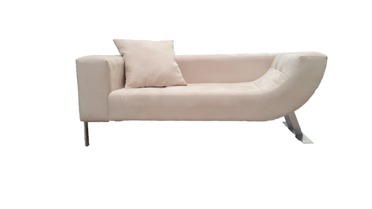 Love Seat de DSeAl Muebles. Minimalista Textil Ámbar/Dorado