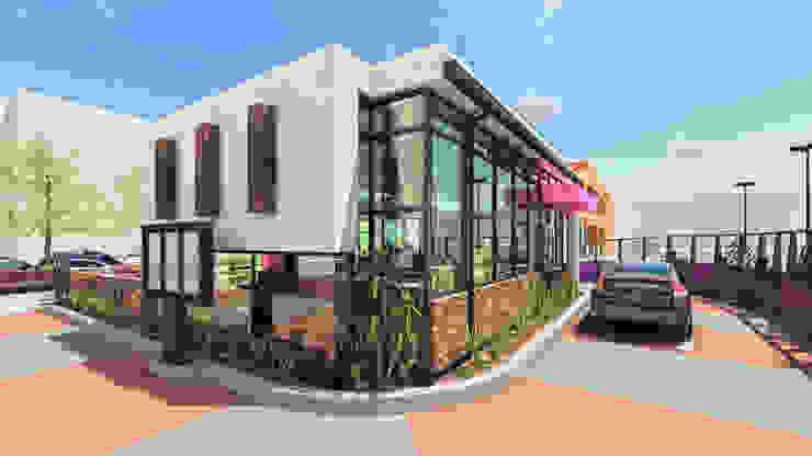 Besame Mucho Café, Chocolate y Churros Gastronomía de estilo moderno de Grupo ARK+OS Arquitectos Moderno