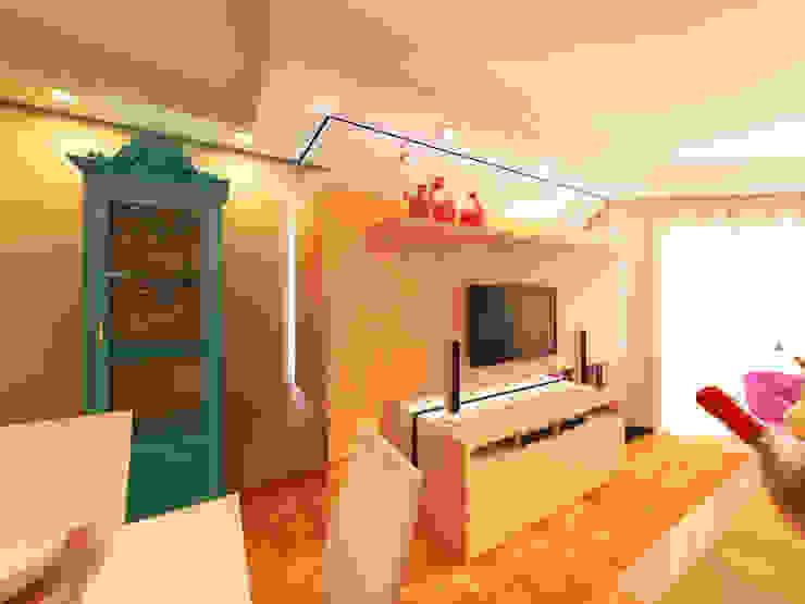现代客厅設計點子、靈感 & 圖片 根據 Studio² 現代風