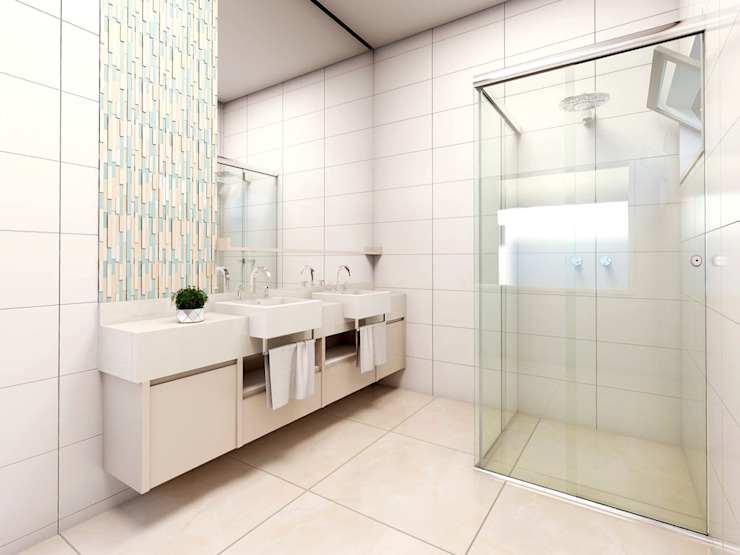 Baños de estilo  por Lozí - Projeto e Obra