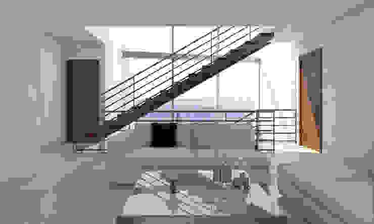 Sala Salones modernos de AParquitectos Moderno Piedra