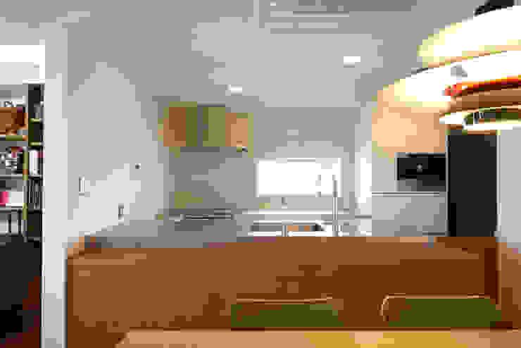 富士を望む家 オリジナルデザインの キッチン の 佐賀高橋設計室/SAGA + TAKAHASHI architects studio オリジナル