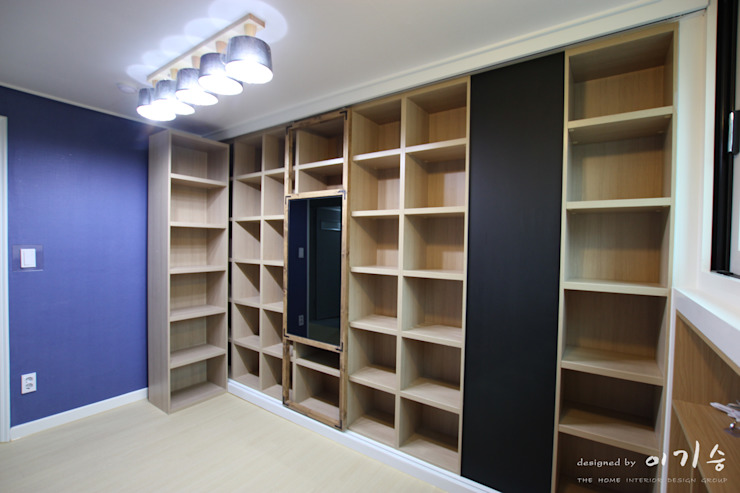 둔산동 한마루아파트 37평형 모던스타일 서재 / 사무실 by 더홈인테리어 모던