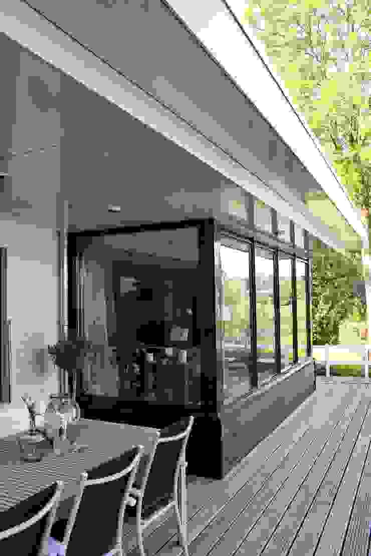 Landelijke eigentijdse woning Landelijke balkons, veranda's en terrassen van Brand I BBA Architecten Landelijk