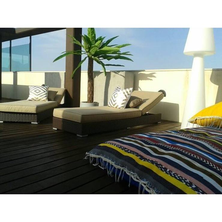 Puffs by allDesign por all Design [Arquitectura e Design de Interiores] Mediterrânico Têxtil Ambar/dourado