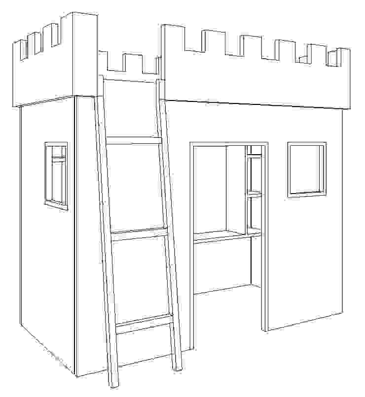 Cama Castelo por Luciana Ribeiro Arquiteta Eclético