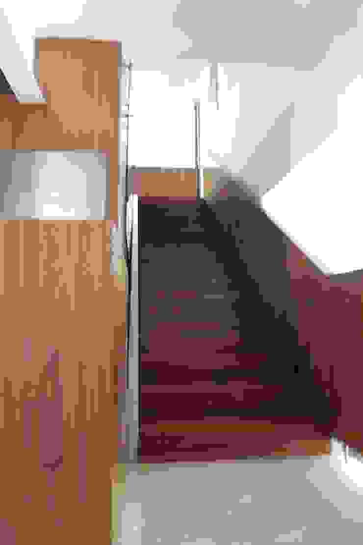 DEPARTAMENTO R-G Pasillos, vestíbulos y escaleras modernos de IARKITECTURA Moderno Madera Acabado en madera