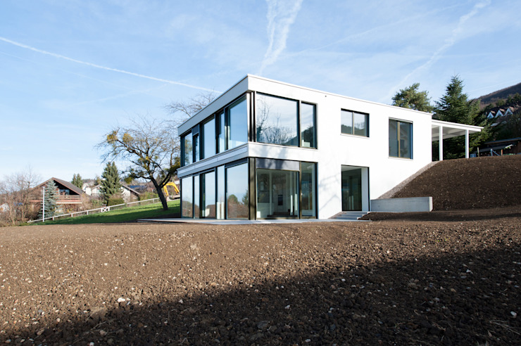 Moderne huizen van mmarch gmbh - Mader Marti Architektur ETH SIA Modern Glas