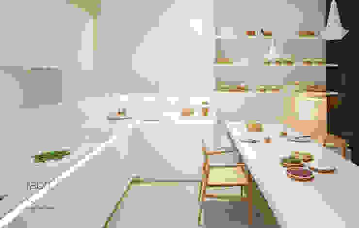 Compacta elegante Cozinhas minimalistas por FABRI Minimalista