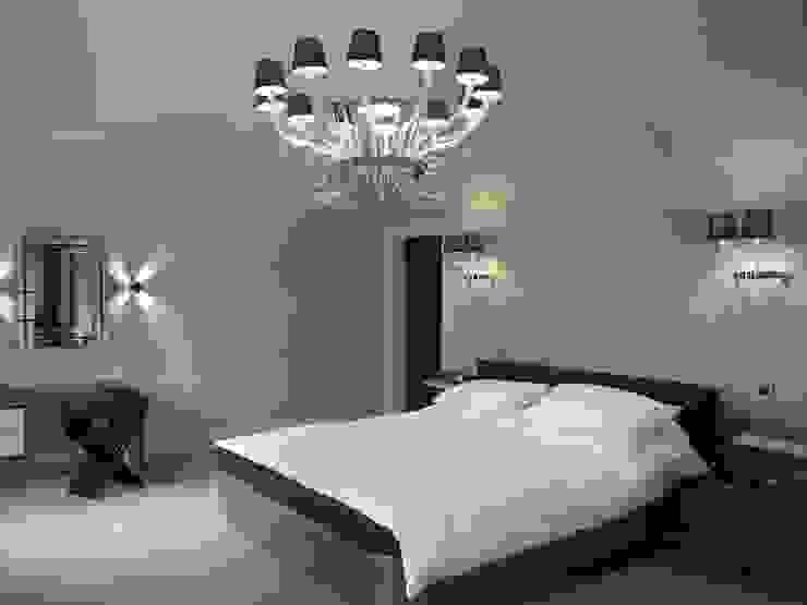 Nottingham Mansion - Master Bedroom Quartos modernos por David Village Lighting Moderno