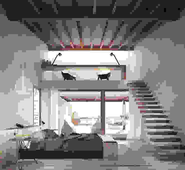 LUV Studio Mediterranean style bedroom