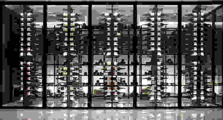Degré 12 Ruang Penyimpanan Wine/Anggur Modern Besi/Baja