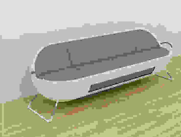 Capsule Sofa - grey + white: modern  by Preetham  Interior Designer,Modern
