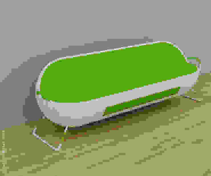 Capsule sofa - Green + white: modern  by Preetham  Interior Designer,Modern
