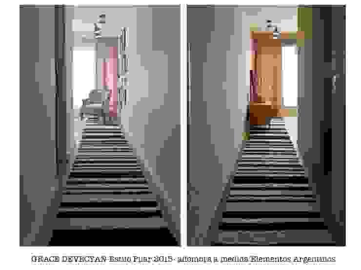 Hallway de Elementos Argentinos Moderno Lana Naranja