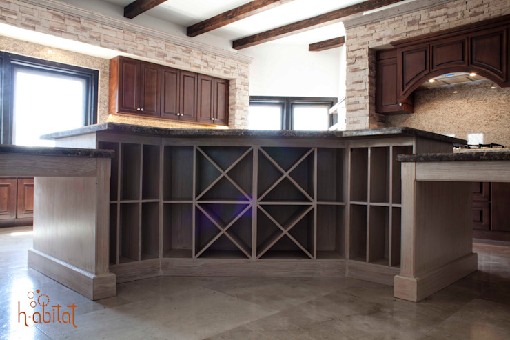 H-abitat Diseño & Interiores Wine cellar Wood Beige
