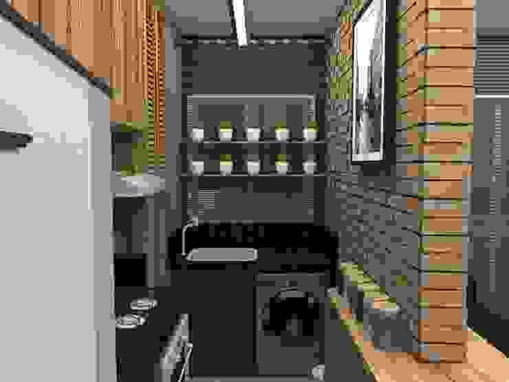 RR608 | Apartamento do Escritor Cozinhas modernas por homify Moderno