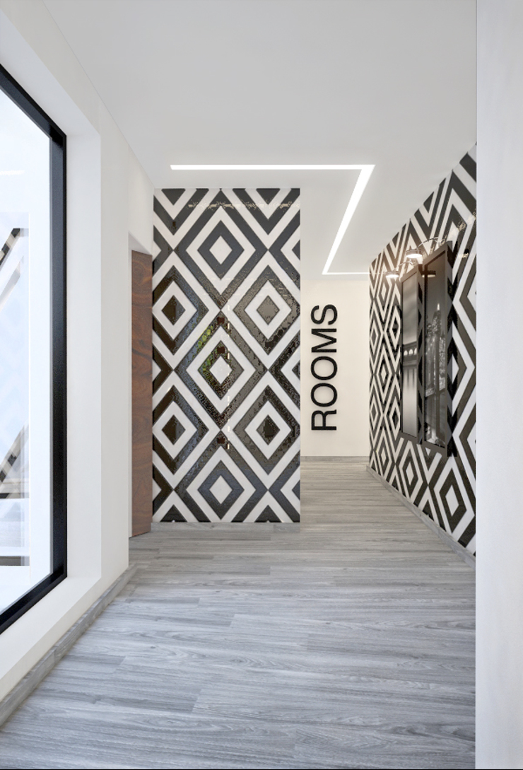Corredor Corredores, halls e escadas modernos por Tiago Martins - 3D Moderno