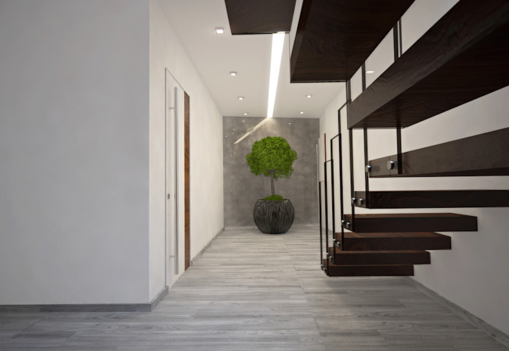 Modern Corridor, Hallway and Staircase by Tiago Martins - 3D Modern