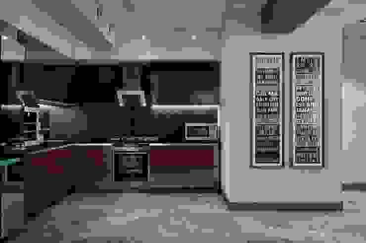Гостиная и кухня в частном доме Кухня в скандинавском стиле от Sweet Home Design Скандинавский