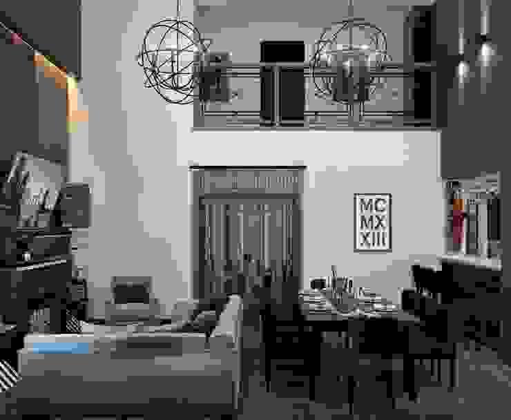 Гостиная и кухня в частном доме Гостиная в скандинавском стиле от Sweet Home Design Скандинавский