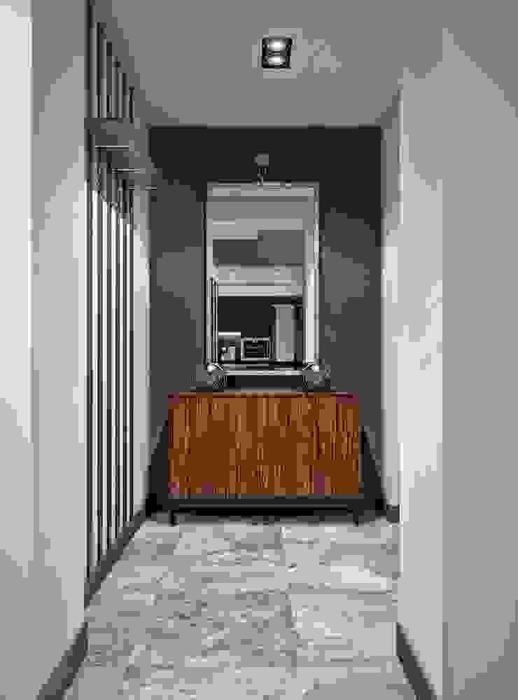 Гостиная и кухня в частном доме Гардеробная в скандинавском стиле от Sweet Home Design Скандинавский