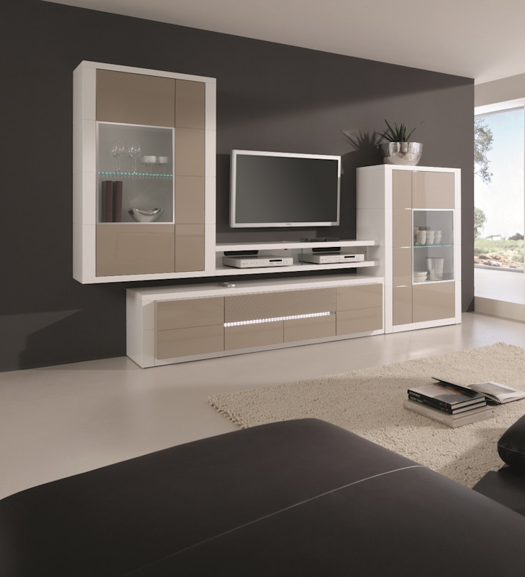 Mobiliário de sala de estar Living room furniture www.intense-mobiliario.com AG1 http://intense-mobiliario.com/pt/salas-de-estar/8557-estante-aragon-a1.html por Intense mobiliário e interiores; Moderno
