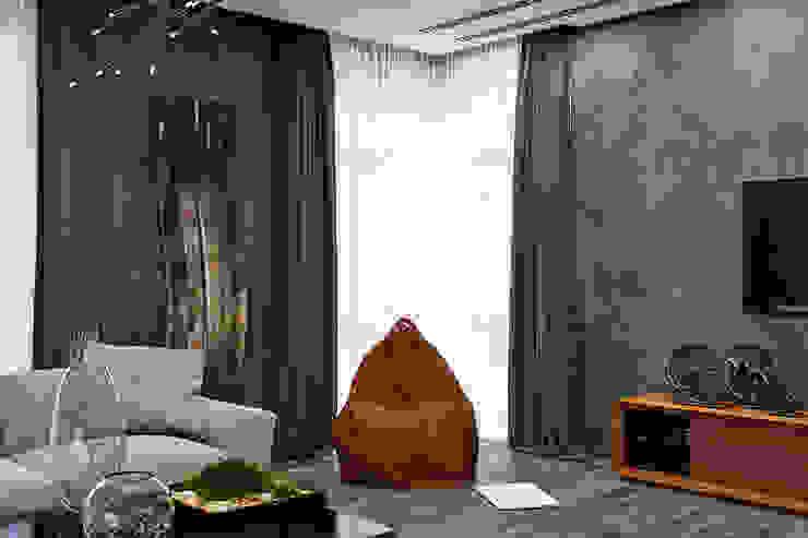 Студия дизайна ROMANIUK DESIGN Industrial style living room
