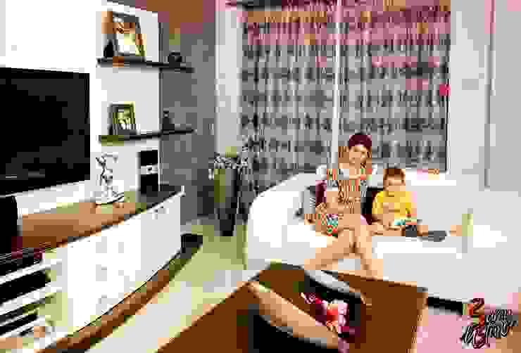 Fatoş -Halil Kaan evi / Boğaz Modern Oturma Odası Şölen Üstüner İç mimarlık Modern