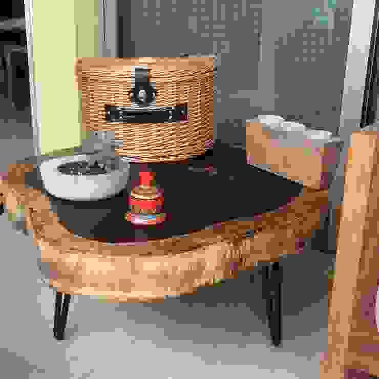 Mesa de tronco de parota de MADERA Moderno Madera Acabado en madera