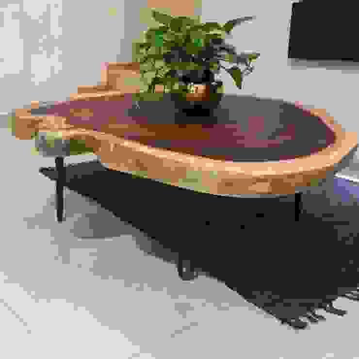 Mesa de centro de parota de MADERA Moderno Madera Acabado en madera