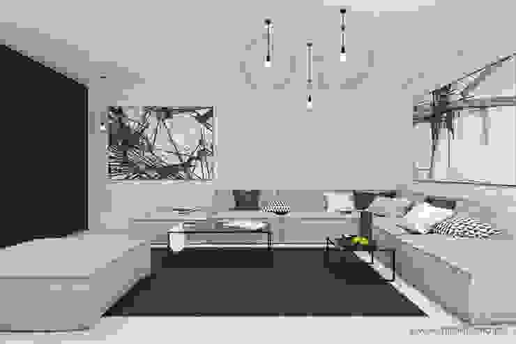 MIRAI STUDIO Living room Bricks White