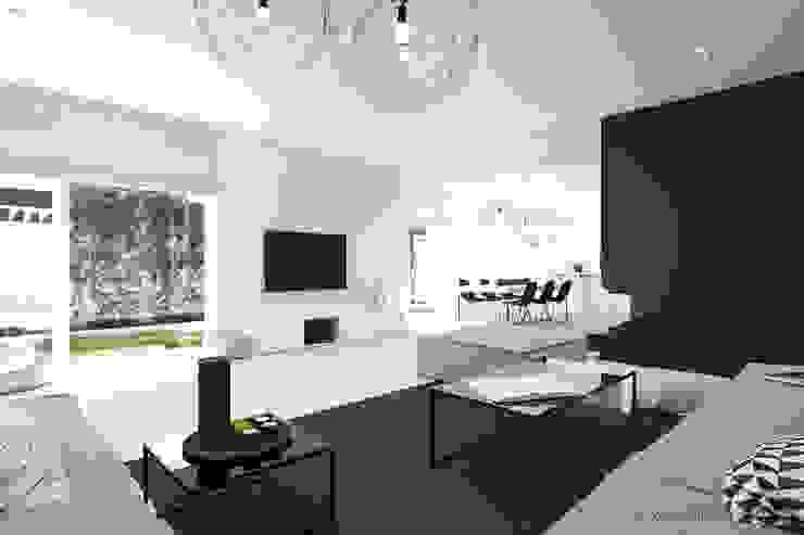 MIRAI STUDIO Living room Glass Black
