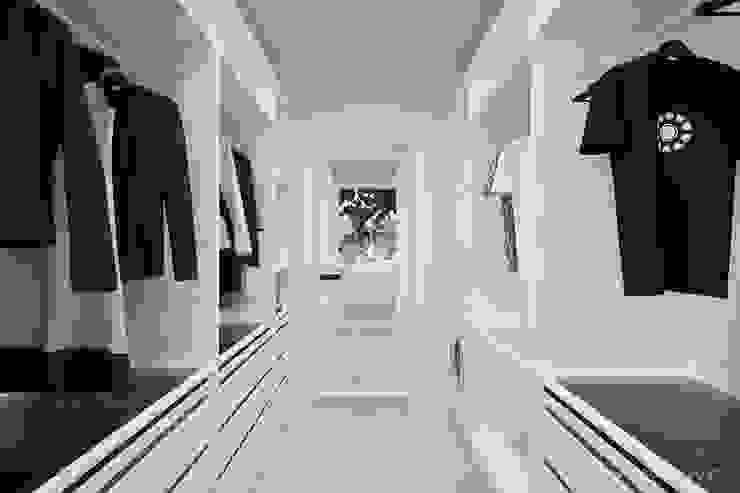 MIRAI STUDIO Minimalist style dressing rooms MDF White