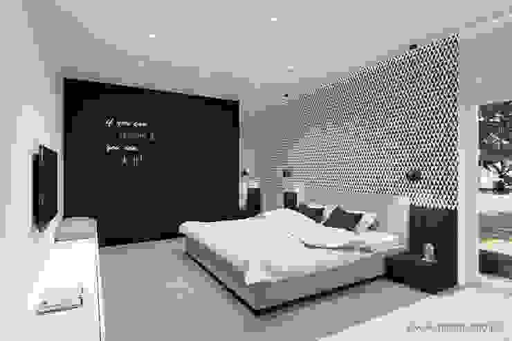 MIRAI STUDIO Minimalist bedroom MDF Grey