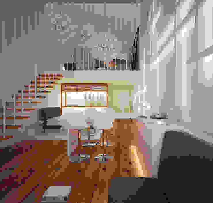 Minimalistische Wohnzimmer von Arquitecto Aguiar Minimalistisch Sperrholz